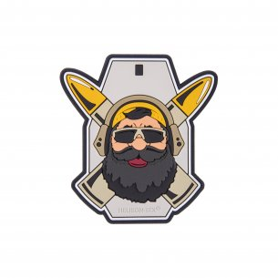 """Beardman RANGE"" Patch - PVC - Grau"
