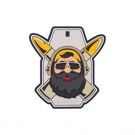 """Beardman RANGE"" Patch - PVC - Gray"