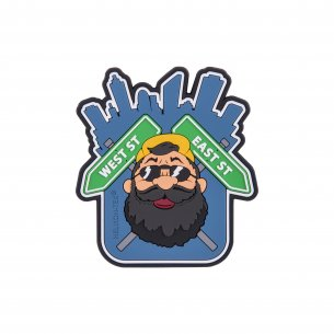 """Beardman URBAN"" Patch - PVC - Blue"