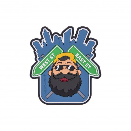 "Helikon-Tex® ""Beardman URBAN"" Patch - PVC - Blue"