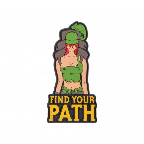 """Find Your Path"" Patch - PVC - Olive Green"