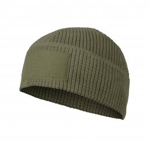 RANGE Beanie® Cap - Grid Fleece - Olive Green