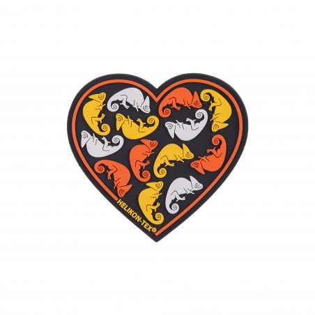 """Heart"" Patch - PVC - Black"