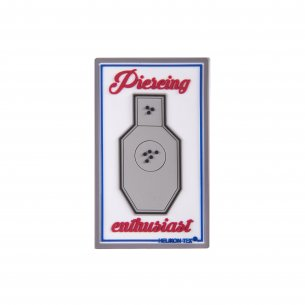 """Pierceing Enthusiast"" Patch - PVC - White"