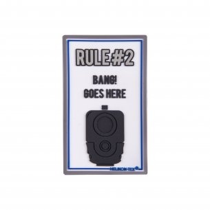Rule 2 Patch - PVC - White