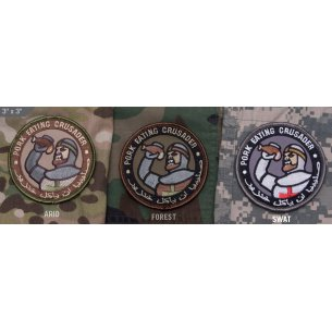Mil-Spec Monkey Pork Eating Crusader velcro patch