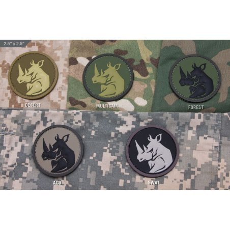 Mil-Spec Monkey Rhino Head PVC velcro patch