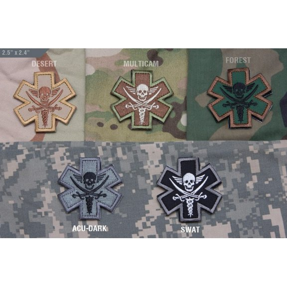 Tactical Medic Pirate velcro patch