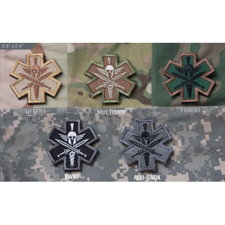 Tactical Medic Spartan velcro patch