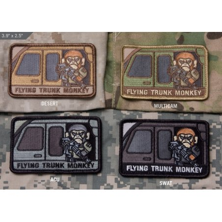 Flying Trunk Monkey velcro patch