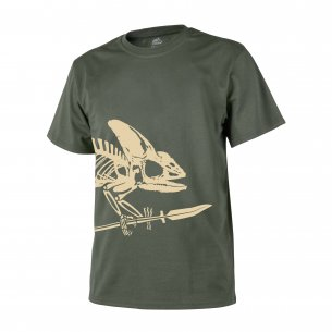 Helikon-Tex® T-Shirt (Full Body Skeleton) - Cotton - Olive Green