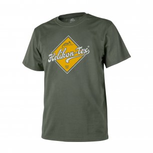 Helikon-Tex® T-Shirt (Helikon-Tex Road Sign) - Cotton - Olive Green
