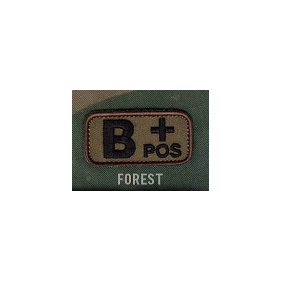 Blood Type velcro patch - Forest
