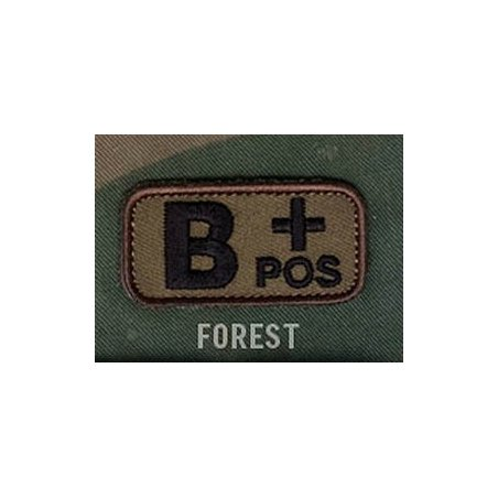 Mil-Spec Monkey Blood Type velcro patch - Forest