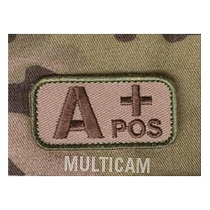 Mil-Spec Monkey Blood Type velcro patch - Multicam