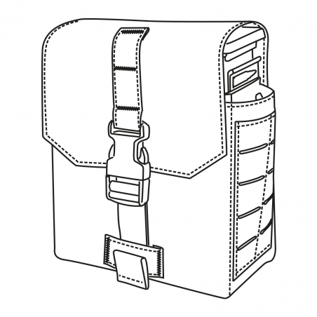 Direct Action® Ładownica molle SAW 46/48 POUCH - Czarna