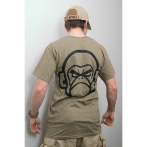 Mil-Spec Monkey MSM Logo T-shirt - Cotton - Greenish Brown