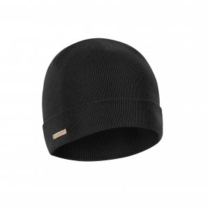 Winter Merino Beanie Cap  - Black