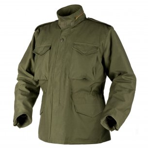 Kurtka US ARMY MILITARY M65 - Nyco Sateen - Olive Green