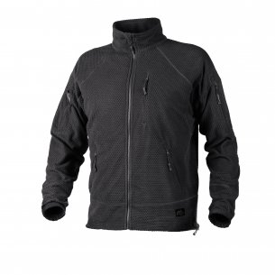 Helikon-Tex® ALPHA TACTICAL Jacke - Grid Fleece - Schwarz