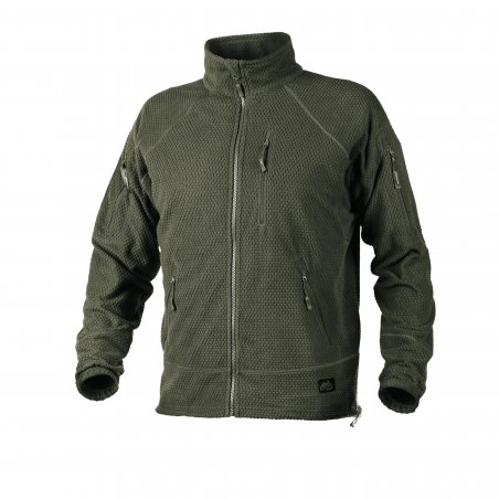 Helikon-Tex® Polar ALPHA TACTICAL - Grid Fleece - Olive Green