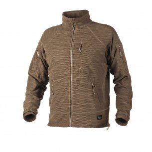Helikon-Tex® Bluza ALPHA TACTICAL - Grid Fleece - Coyote / Tan