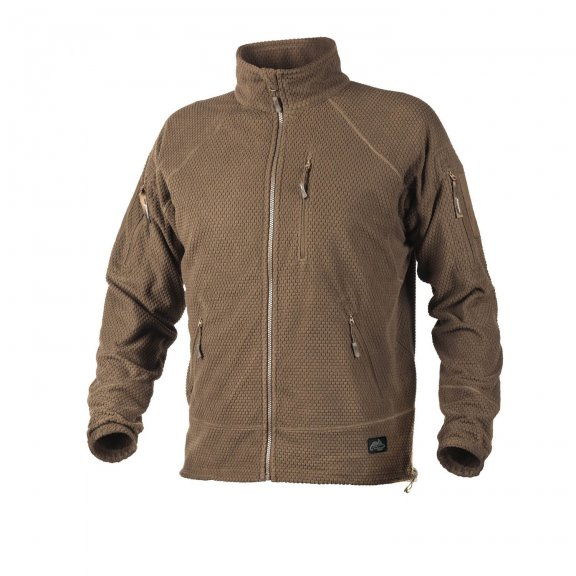 Helikon-Tex® ALPHA TACTICAL Jacke - Grid Fleece - Coyote / Tan