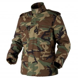 Helikon-Tex® US ARMY MILITARY M65 Jacke - Nyco Sateen - US Woodland