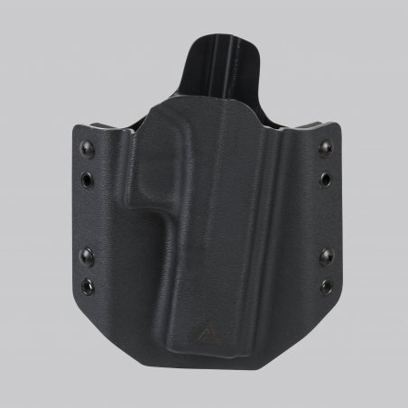 Direct Action® G17 OWB NO LIGHT HOLSTER (straight loops) - Full Kydex - Black