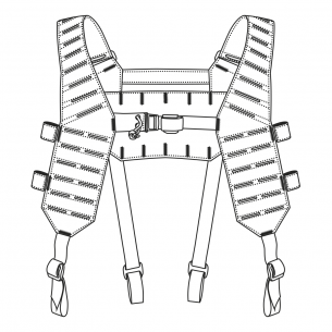 Direct Action® MOSQUITO® H-HARNESS - Negro