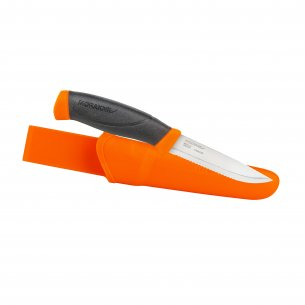 Knife Morakniv® Companion Hi-Vis Orange Serrated