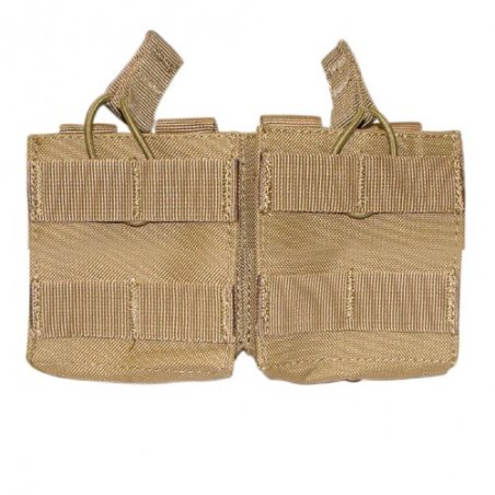 Double Open-Top M14 Mag Pouch (MA24-003) - Coyote / Tan