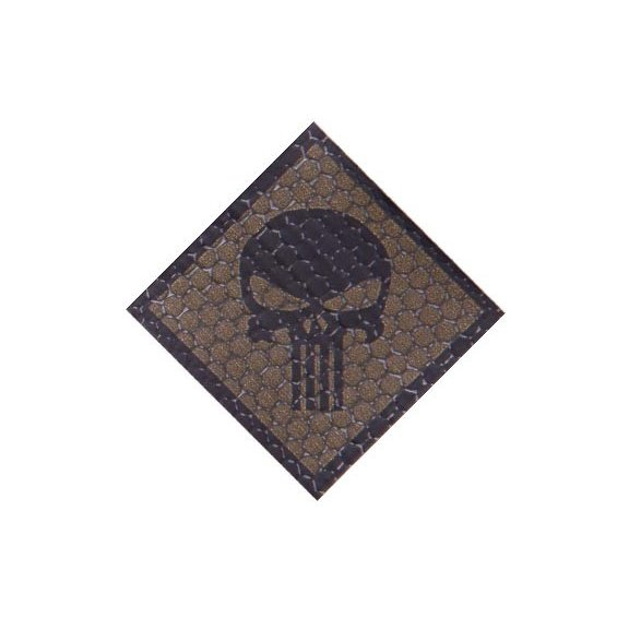 Combat-ID Velcro patch - Skull (H4-CB) - Coyote Brown