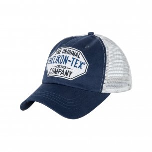 Helikon-Tex® Trucker Logo Cap - Cotton Twill - Blue