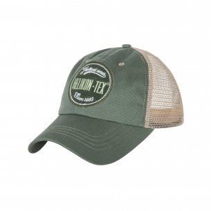 Helikon-Tex® Trucker Logo Kappe - Cotton Twill - Grün