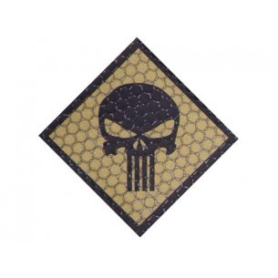 Combat-ID Velcro patch - Skull (H4-CT) - Coyote / Tan