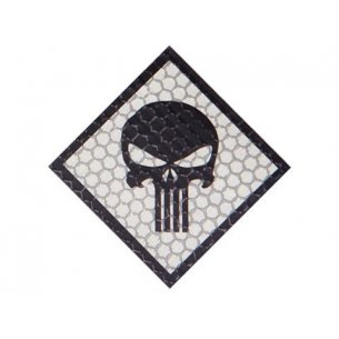 Combat-ID Velcro patch - Skull (H4-GY) - Grey
