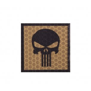 Combat-ID Velcro patch - Skull (H5-CT) - Coyote / Tan