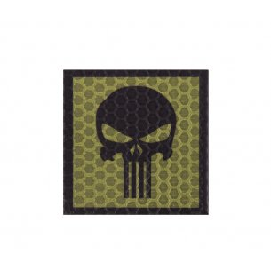 Combat-ID Velcro patch - Skull (H5-OD) - Olive Drab