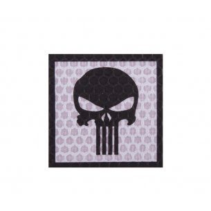 Combat-ID Velcro patch - Skull (H5-GY) - Grey