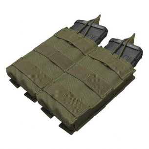 Double M4/M16 Open Top Mag Pouch (MA19-001) - Olive Green