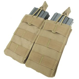Condor® Double M4/M16 Open Top Mag Pouch (MA19-003) - Coyote / Tan
