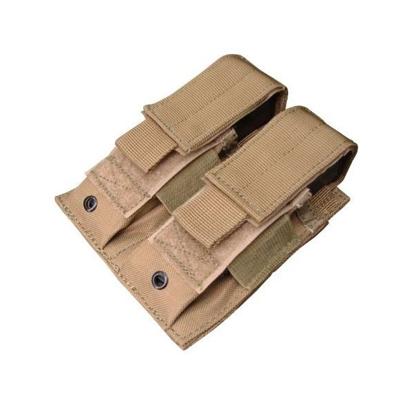 Condor® Ładownica molle Double Pistol Mag Pouch (MA23-003) - Coyote / Tan