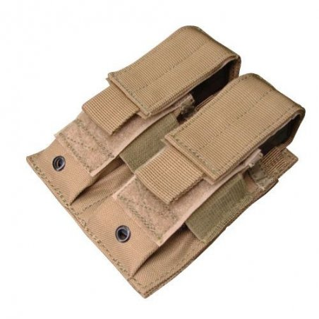 Ładownica molle Double Pistol Mag Pouch (MA23-003) - Coyote / Tan
