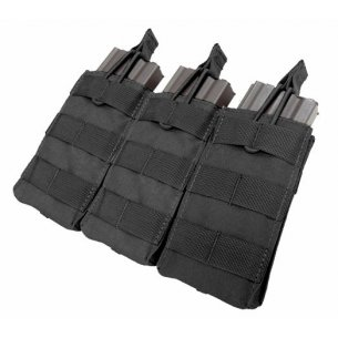 Ładownica molle Open Top M4/M16 Triple Mag Pouch (MA27-002) - Czarna