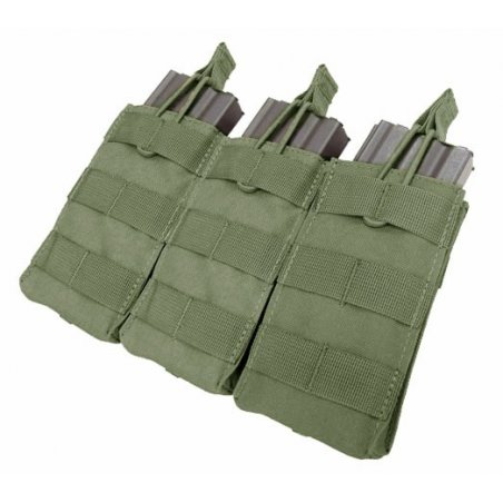 Ładownica molle Open Top M4/M16 Triple Mag Pouch (MA27-001) - Olive Green