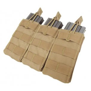 Condor® Open Top M4/M16 Triple Mag Pouch (MA27-003) - Coyote / Tan