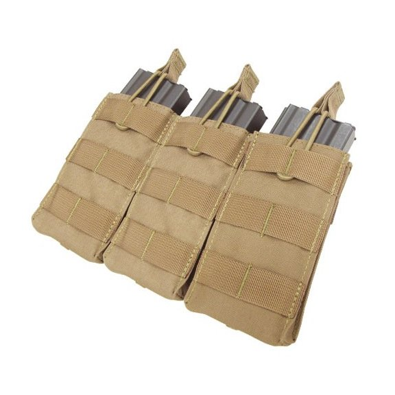Open Top M4/M16 Triple Mag Pouch (MA27-003) - Coyote / Tan