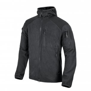 Helikon-Tex® Alpha Tactical Hoodie Jacket - Grid Fleece - Black