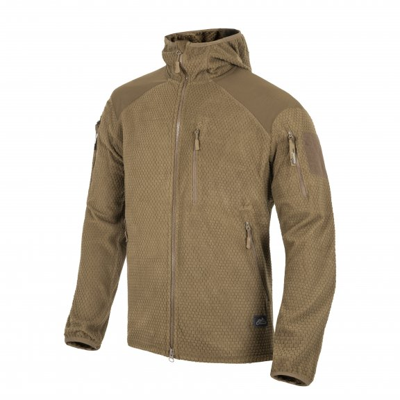 Helikon-Tex® Alpha Tactical Hoodie Jacket - Grid Fleece - Coyote